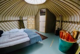 Glamping tent example