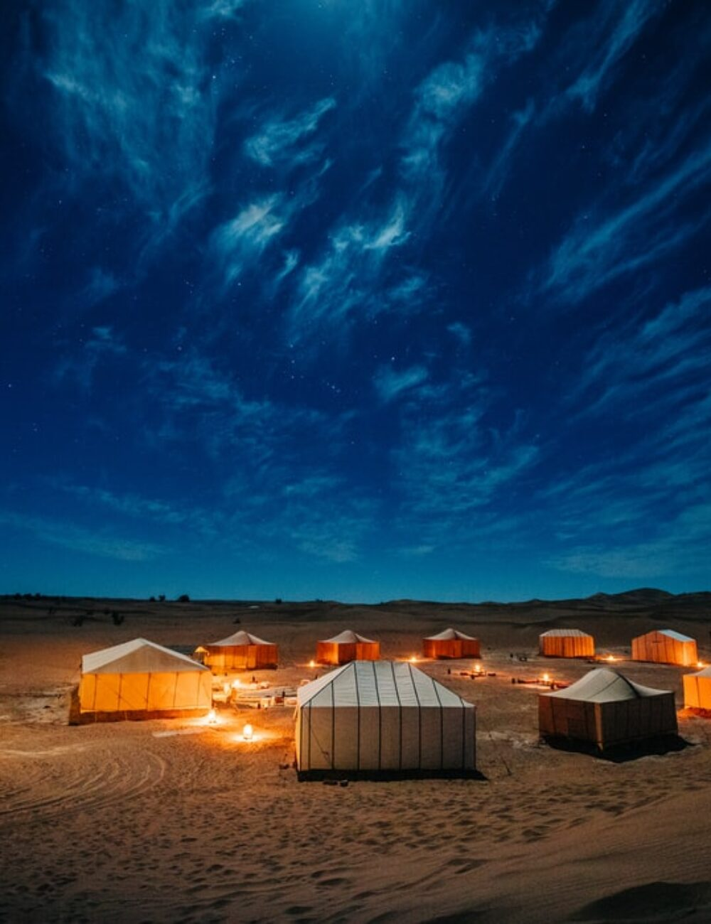 Glamping example in Morocco