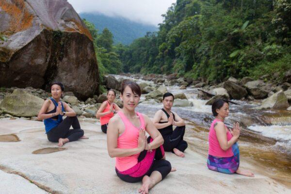 Half fish of the lords yoga pose TRL